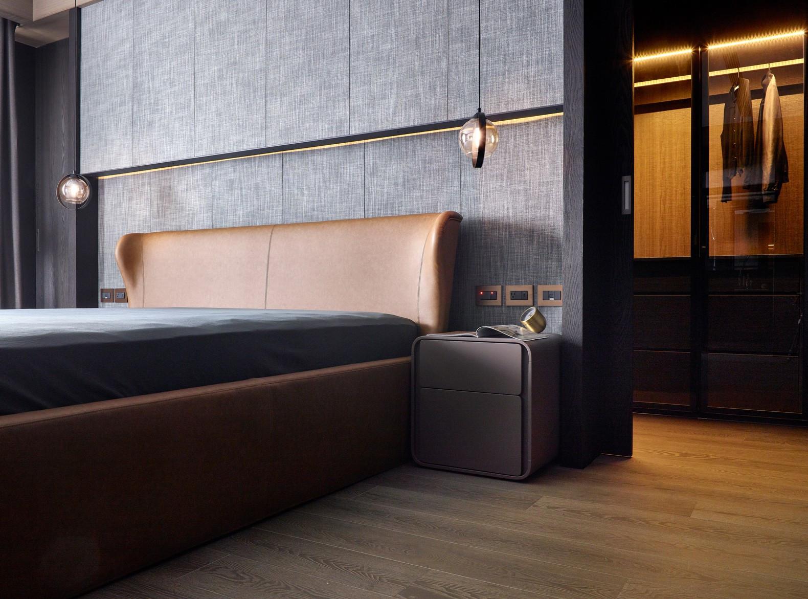185㎡现代简约床头背景墙装修效果图