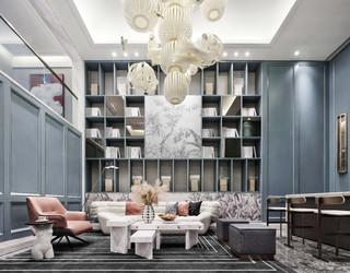 现代法式别墅休闲室装修效果图
