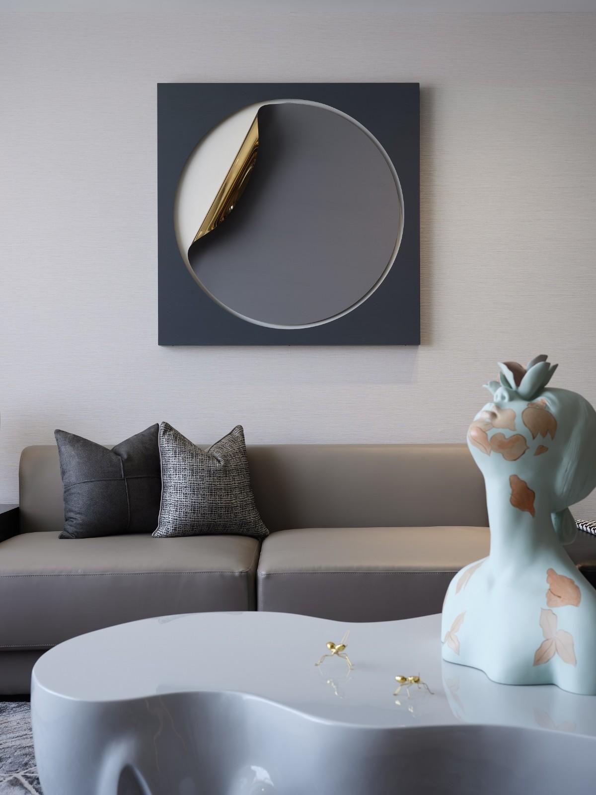 115㎡现代简约沙发墙装修效果图