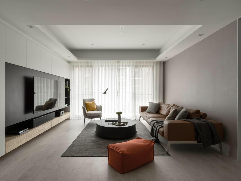 125㎡现代简约客厅装修效果图