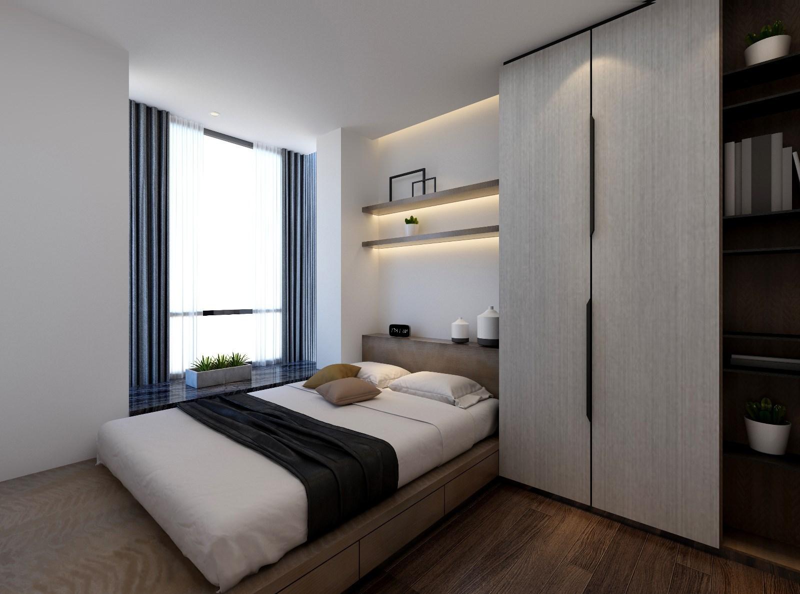 简约新中式卧室装修效果图