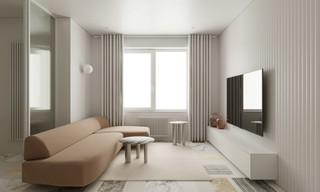 极简风格公寓装修效果图