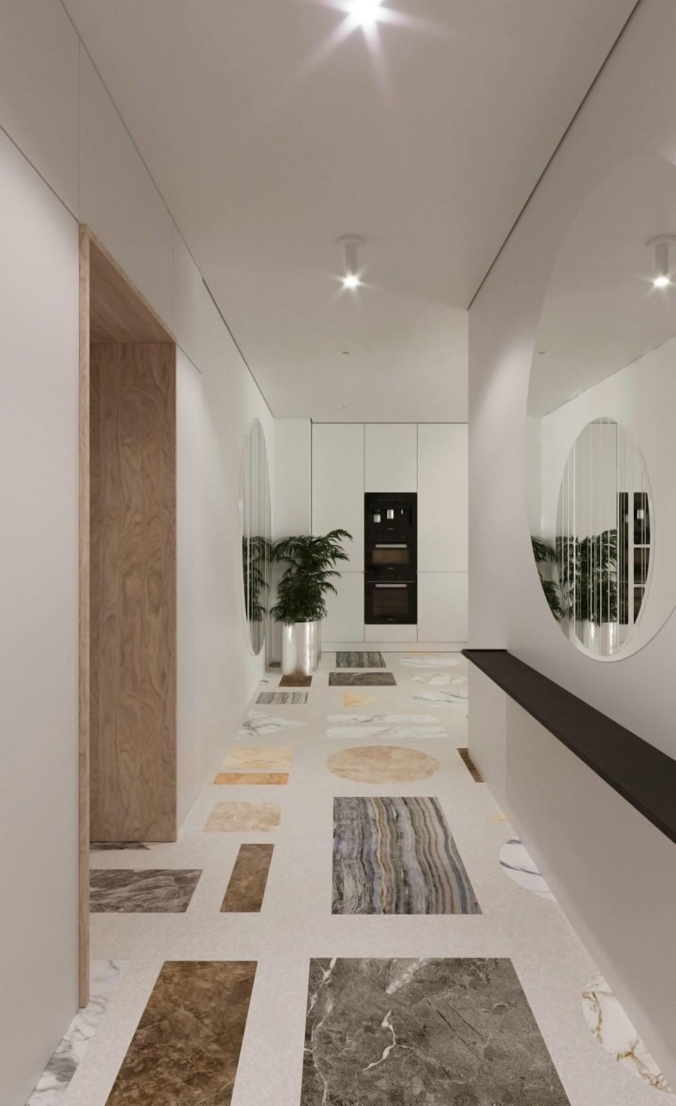 极简风格公寓过道装修效果图