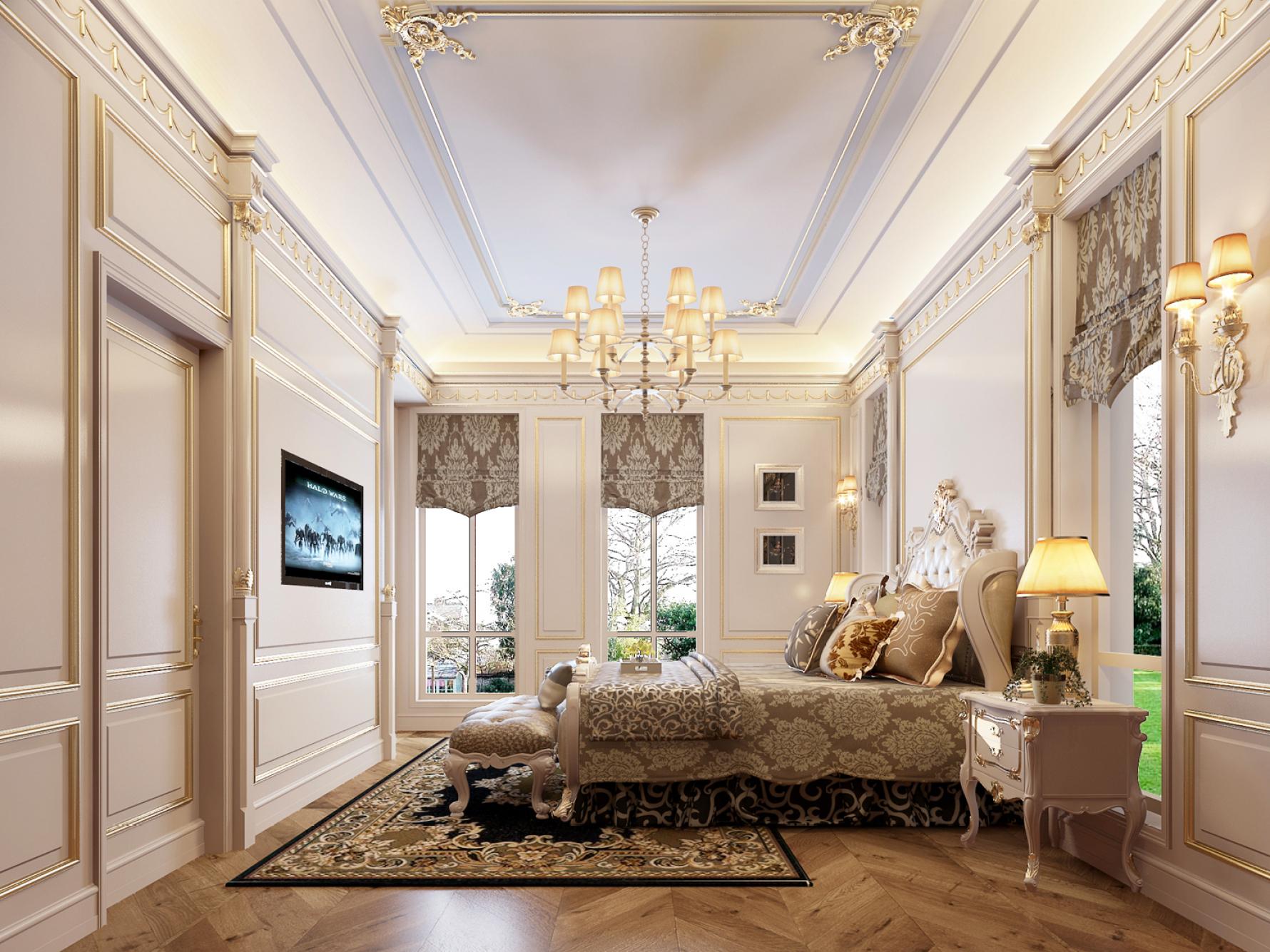 奢华法式别墅卧室装修效果图