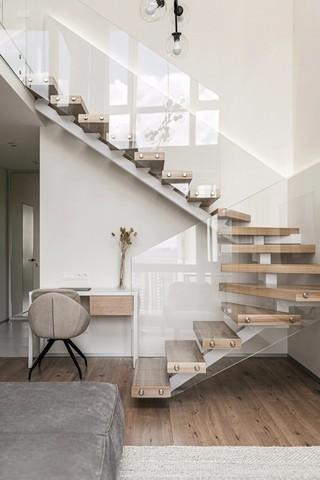 极简LOFT公寓楼梯装修效果图