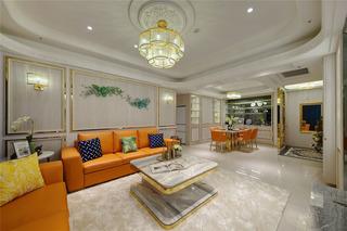 128平奢华新古典客厅装修效果图