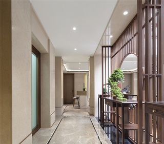 新中式别墅过道装修效果图