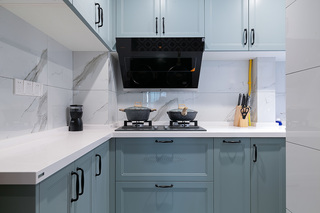 85平米复古风厨房装修效果图