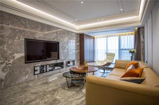 现代轻奢风三居客厅装修效果图