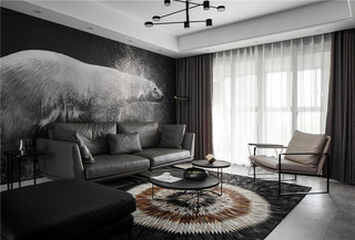 130m²现代简约客厅每日首存送20