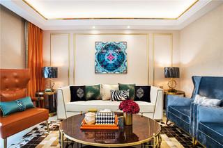 美式轻奢三居室装修效果图