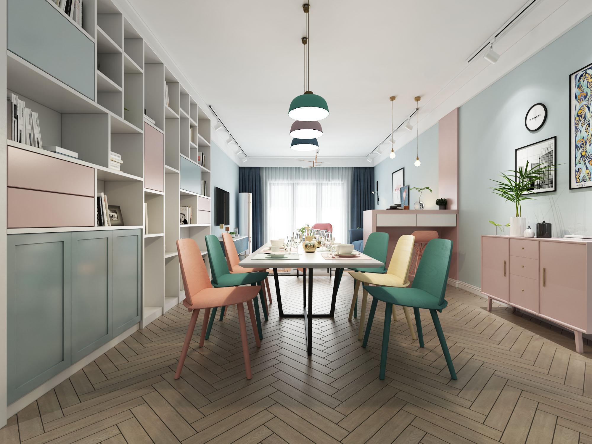 北欧风格二居室10-15万70平米装修效果图