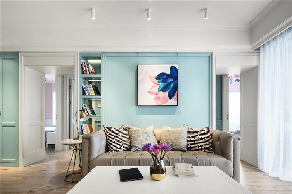 120m²美式沙发墙装修效果图