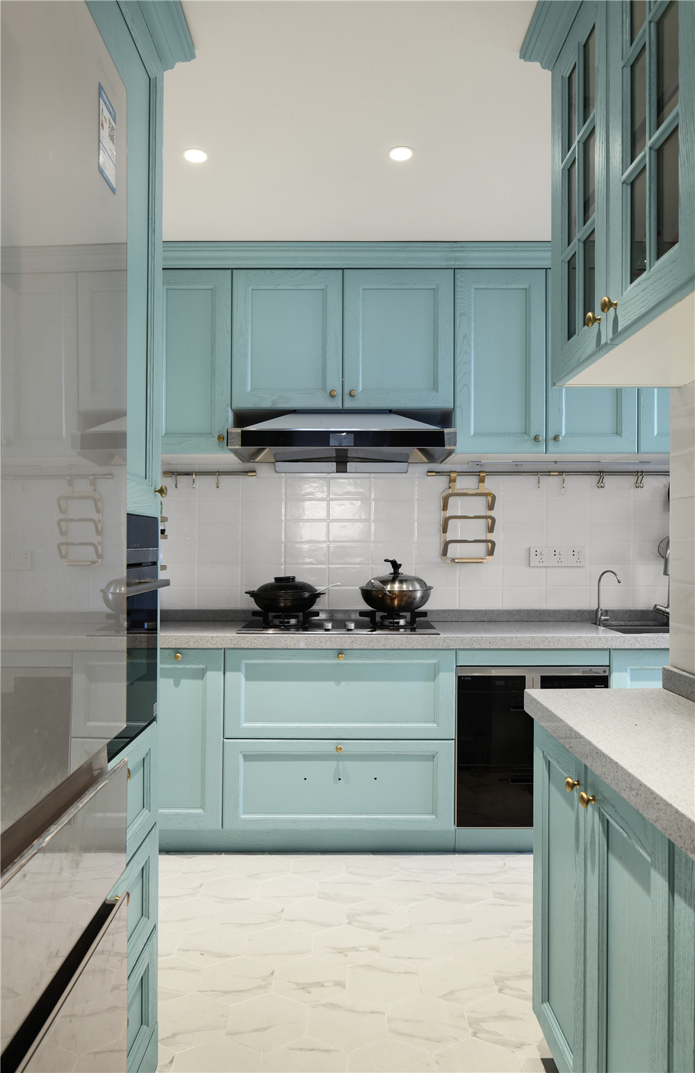 120m²美式厨房装修效果图