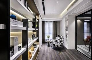130m²现代风书房装修效果图