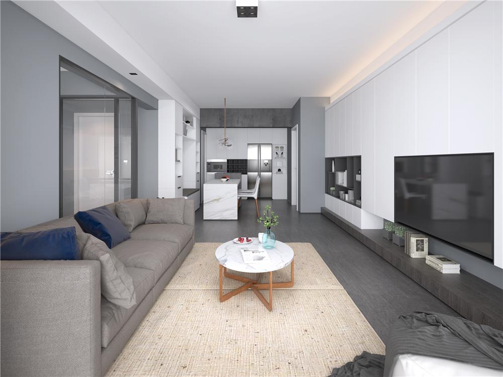 简约现代三居室装修效果图