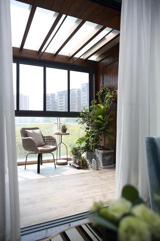 133m²现代美式阳台装修效果图