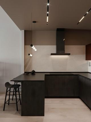 现代极简三居厨房装修效果图