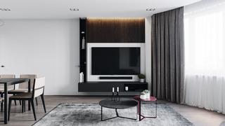 110m²现代风电视墙装修效果图