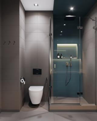 110m²现代风卫生间装修效果图