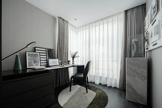 85平米三居室书房装修效果图