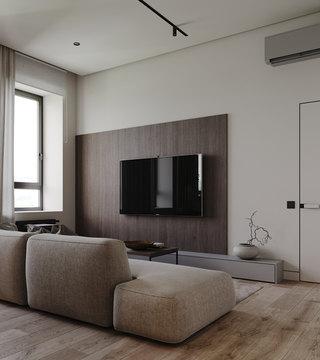 小户型简约公寓客厅电视墙每日首存送20