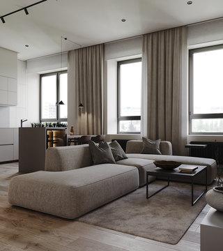 小户型简约公寓客厅每日首存送20