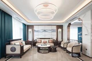 新中式风格别墅客厅装修效果图