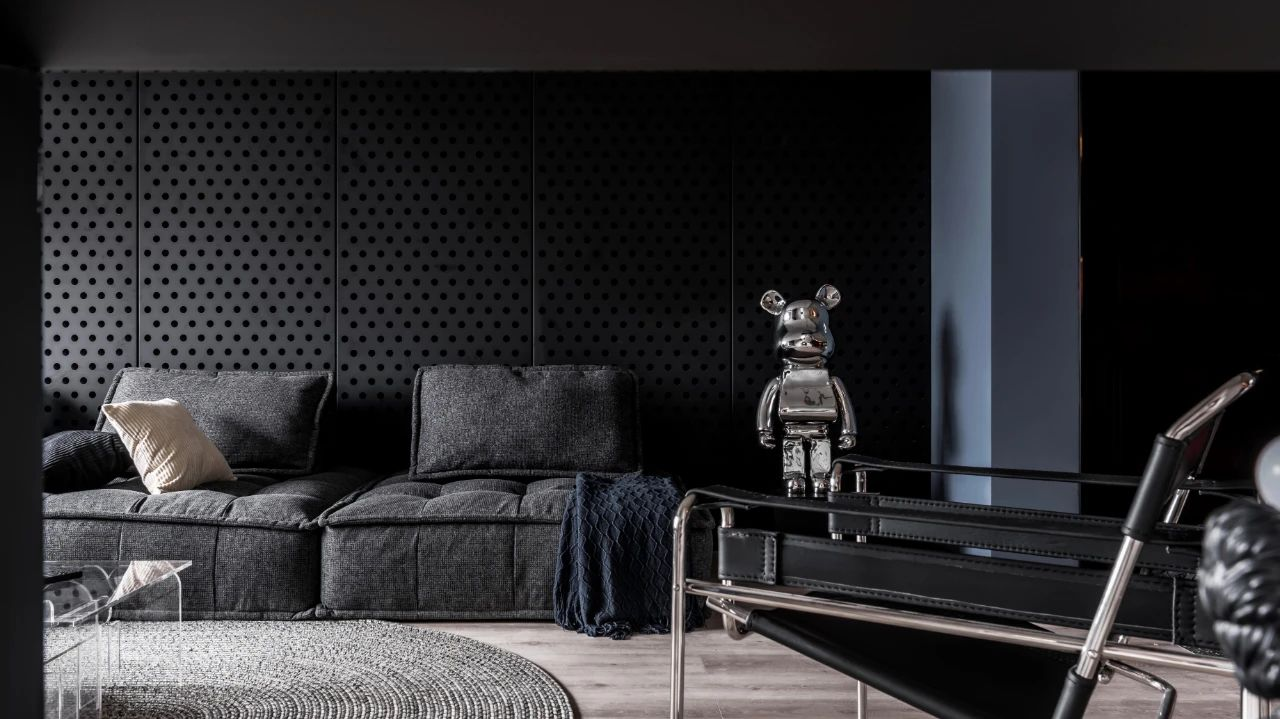 120m²现代简约沙发背景墙装修效果图