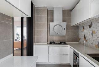 147平简约复古风厨房装修效果图