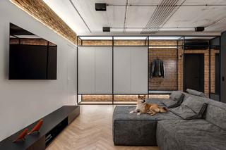 工业风二居室客厅装修效果图