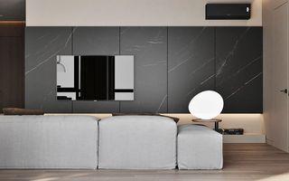 简约风公寓电视墙装修效果图