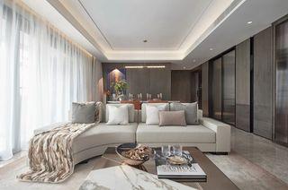 现代轻奢四居客厅装修效果图