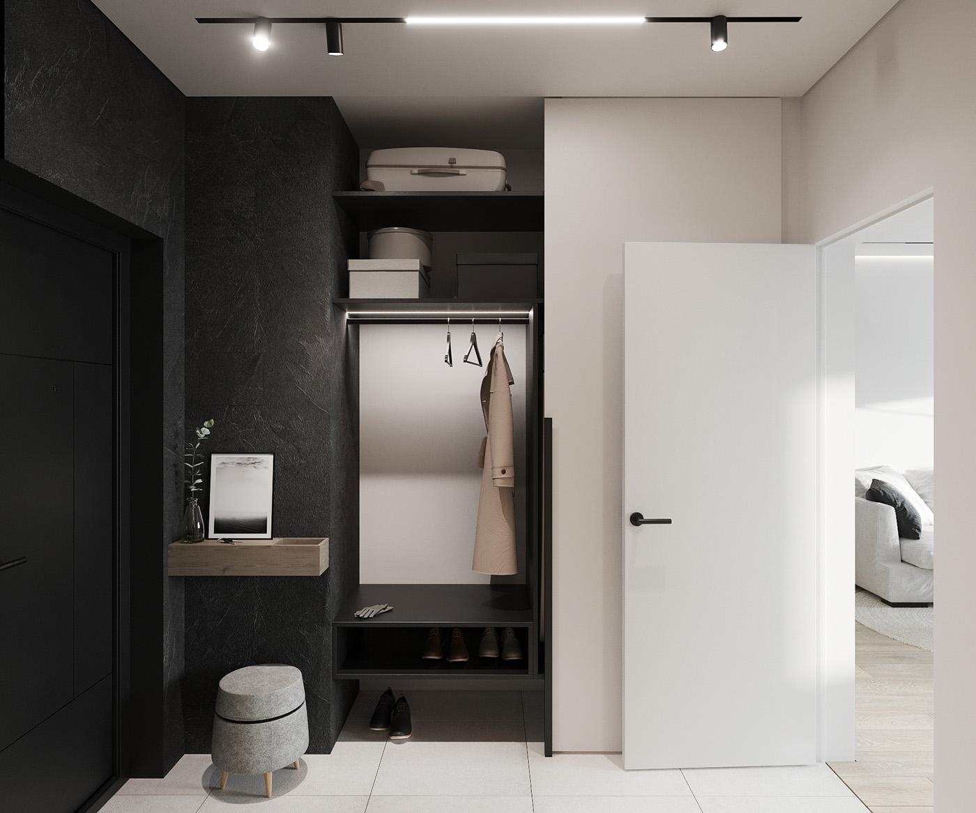 小户型一居室玄关装修效果图