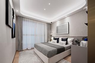 115m²现代轻奢卧室装修效果图