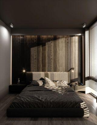轻工业风公寓卧室装修效果图