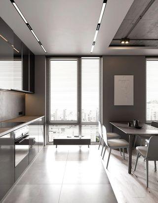 轻工业风公寓厨房装修效果图
