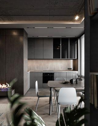 轻工业风公寓厨餐厅装修效果图