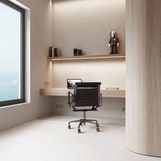 极简风公寓工作区装修效果图