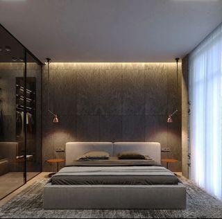 65㎡公寓卧室装修效果图