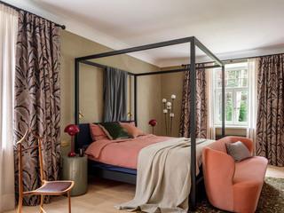 复古轻奢别墅卧室装修效果图