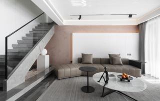 简约现代三居沙发墙装修效果图