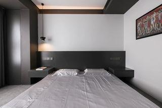70㎡黑色系公寓卧室装修效果图