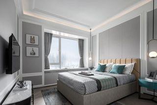 现代美式三居装修效果图
