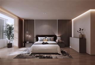 简约现代别墅卧室装修效果图