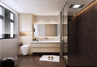 简约现代别墅卫生间装修效果图