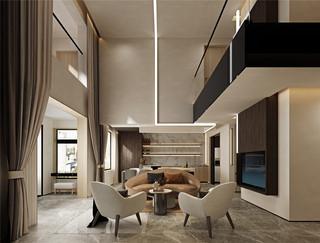 简约现代别墅客厅装修效果图